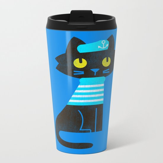 Fitz - Sailor cat Metal Travel Mug