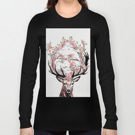 Deer and Flowers Long Sleeve T-shirt