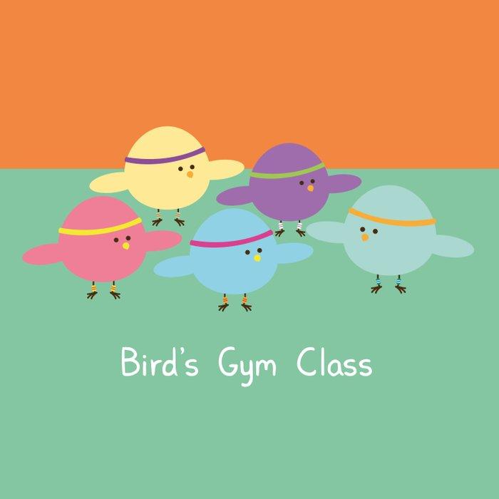Birds Gym Class Duvet Cover