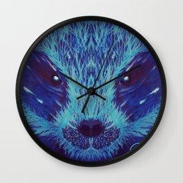 Blue Honey Badger Wall Clock