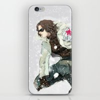 the winter soldier iPhone & iPod Skins featuring winter soldier by MacheteJo