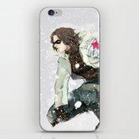 winter soldier iPhone & iPod Skins featuring winter soldier by MacheteJo
