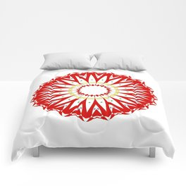 Mandala with colon cancer ribbon Comforters
