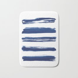 Indigo Brush Strokes | No. 2 Bath Mat