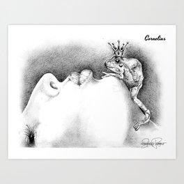 CORNELIUS Frog Prince Print Art Print