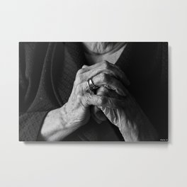 Old Woman Metal Print