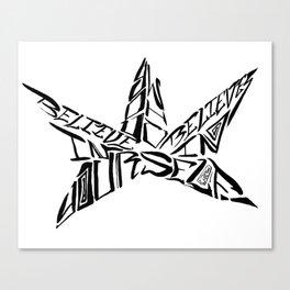Calligranime: Yourself Canvas Print