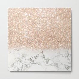 Marble & Stardust Ombre Metal Print