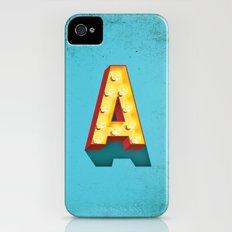 A in lights iPhone (4, 4s) Slim Case