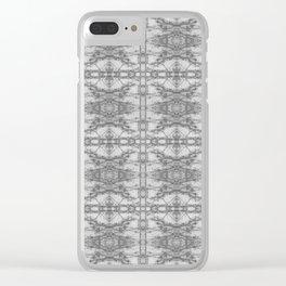 Digital Ornate Pattern Clear iPhone Case