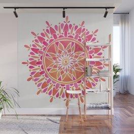 Mandala – Pink Ombré Wall Mural