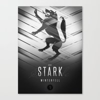 sansa Canvas Prints featuring House Stark Sigil III (house seat) by P3RF3KT