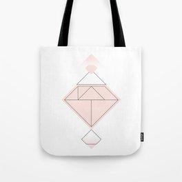 Tangram Diamond Linework Pink Tote Bag