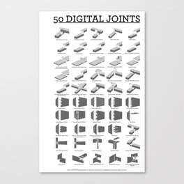 50 Digital Joints poster reference Canvas Print