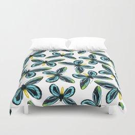 Queen Alexandra' s birdwing butterfly pattern design Duvet Cover