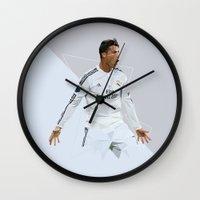 ronaldo Wall Clocks featuring Ronaldo 7 by Icon11