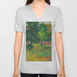 "Paul Gauguin ""Te Fare (La maison)"" Unisex V-Neck"