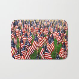 Field Of Flags Bath Mat