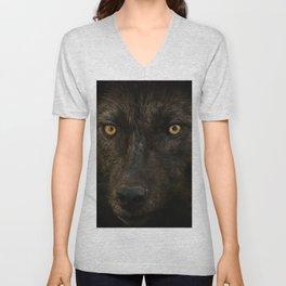 Black Wolf Unisex V-Neck