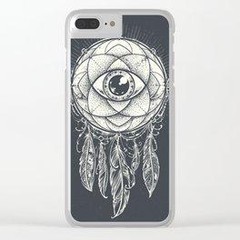 Dream catcher eye Clear iPhone Case