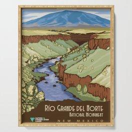 Vintage Poster - Rio Grande del Norte National Monument, New Mexico (2015) Serving Tray