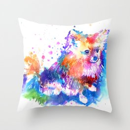 Pop Art Pomeranian Throw Pillow