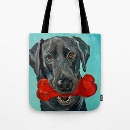 Ozzie the Black Labrador Retriever Tote Bag