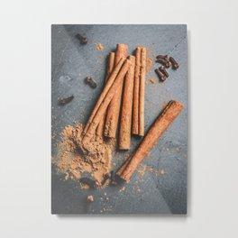 Cinnamon and anise art #food #stilllife Metal Print