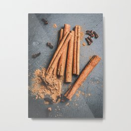 Cinnamon and anise art #food #stilllife Metal Print