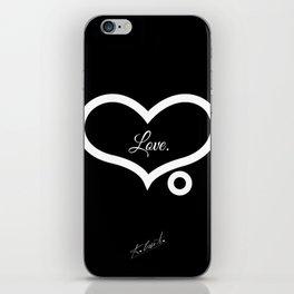 Love. (Black)  iPhone Skin