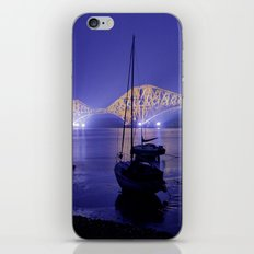 Forth Road Bridge, a study in blue iPhone Skin