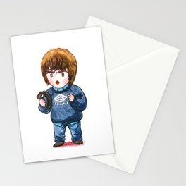 Liam Gallagher with his Tambourine Stationery Cards