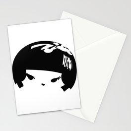 Kokeshi Head Logo Design Stationery Cards