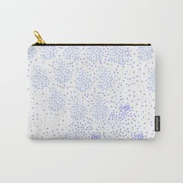 Blue circle on white Carry-All Pouch