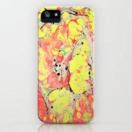 Rasta marbleized print iPhone Case
