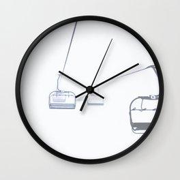 B&W Skilift Poster Wall Clock