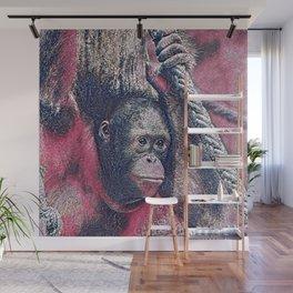 GlitzyAnimal_OrangUtan_002_by_JAMColors Wall Mural