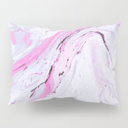 Watercolor effect marble Pillow Sham