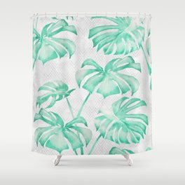 city leaf Shower Curtain