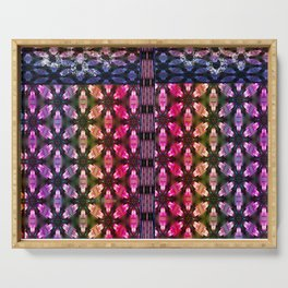 Graphic Facets of Color & Pattern Serving Tray