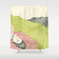 hollywood Shower Curtains featuring Hollywood by Jules Magistry