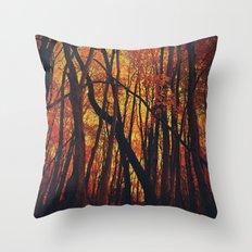 Fall on Fire Throw Pillow