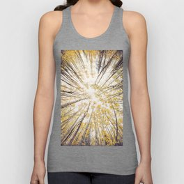 fall looking up Unisex Tank Top