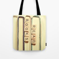 anaconda Tote Bags featuring Read Books by Olivia Joy StClaire