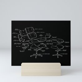 Eames Lounge Chair Diagram Mini Art Print