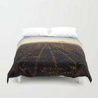 skyline Duvet Covers featuring Skyline by Mints&Bees