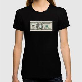 Benjamin Franklin With Mask -100 Dollar Note T-shirt