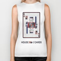 house of cards Biker Tanks featuring House of cards Playing card  by Lewys Williams