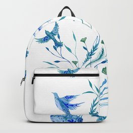 Jellyfish and Birds Abstract Ocean Backpack
