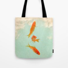 Goldfish in the sky Tote Bag
